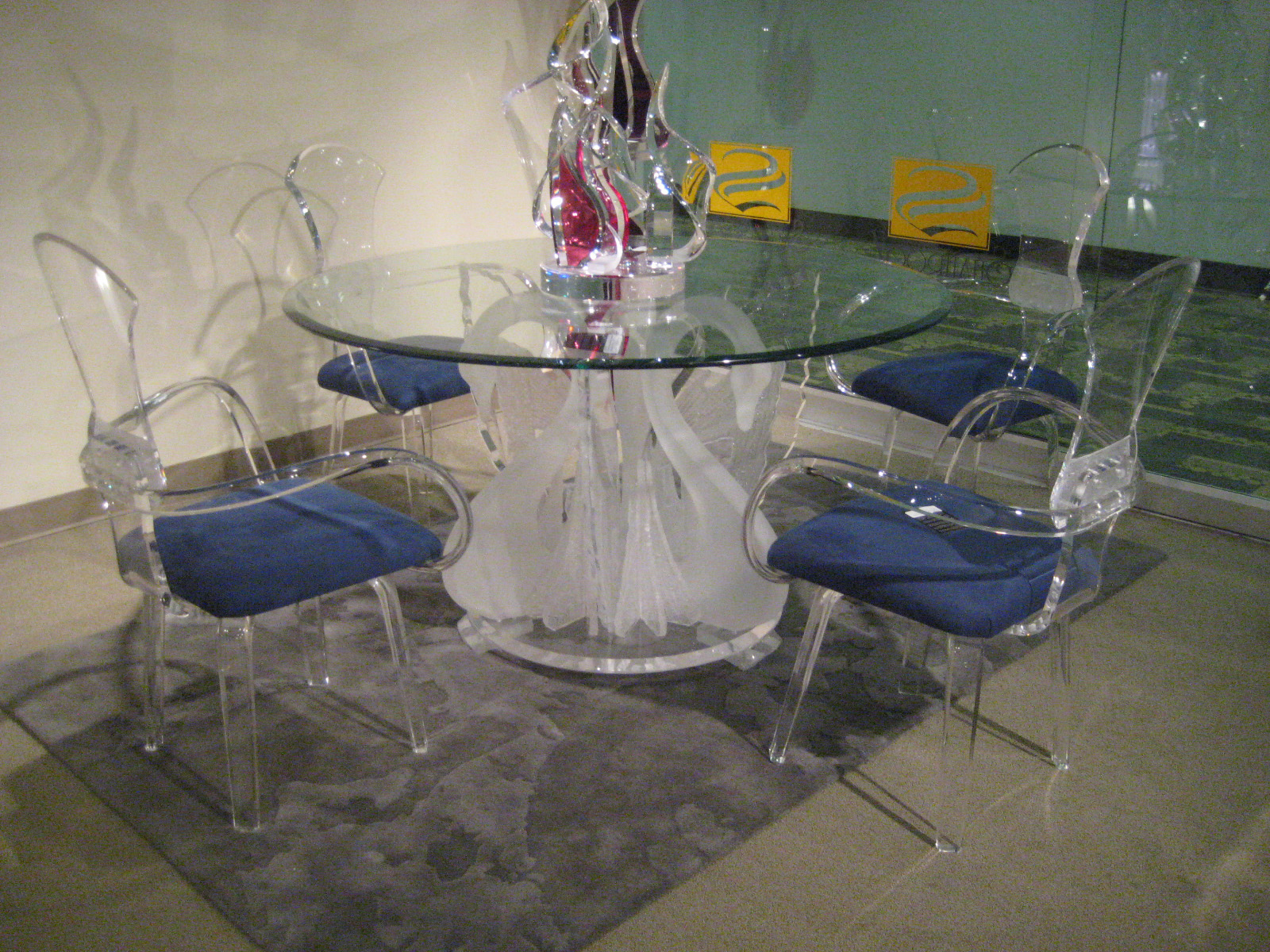 Legend Swan Dinette, Acrylic Wall Art, Acrylic Furniture